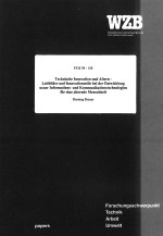 Aging Society, Imagination, Alternde Gesellschaft, Technikgeneseforschung, WZB Paper, Henning Breuer 1998